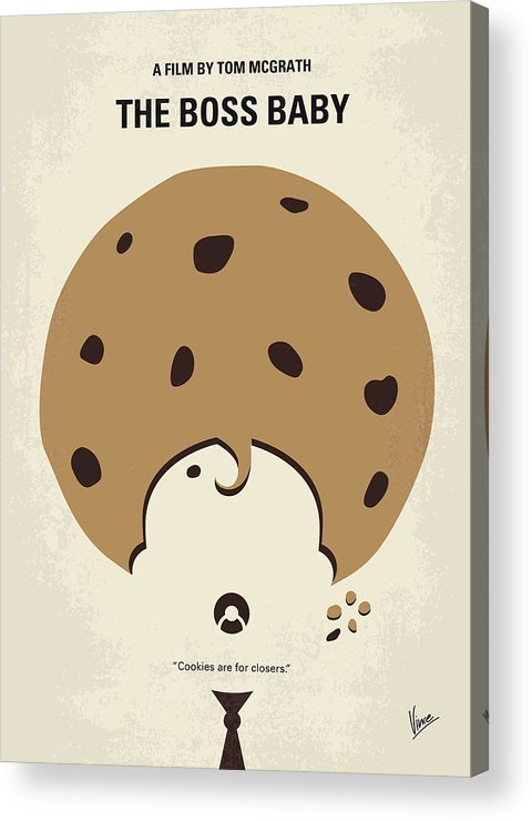 sale online clearance sale outlet online No906 My Boss Baby Minimal Movie Poster Acrylic Print