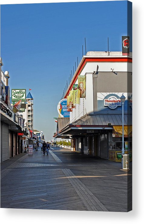 Fair Acrylic Print featuring the photograph Oc Boardwalk by Skip Willits