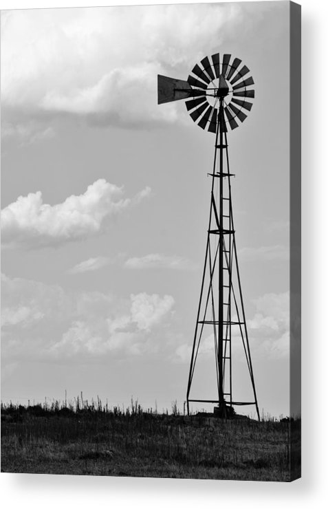 Agriculture Acrylic Print featuring the photograph Old Windmill II by Ricky Barnard