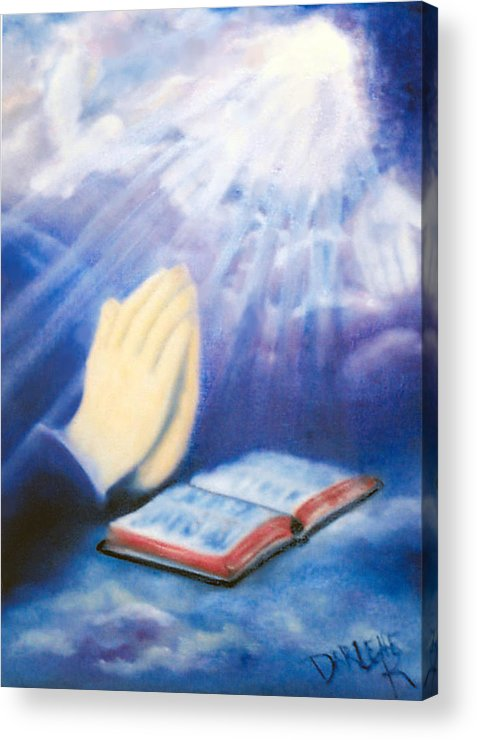 Prayer Acrylic Print featuring the painting Our Daily Bread by Darlene Green