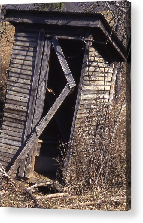 Acrylic Print featuring the photograph Outhouse1 by Curtis J Neeley Jr