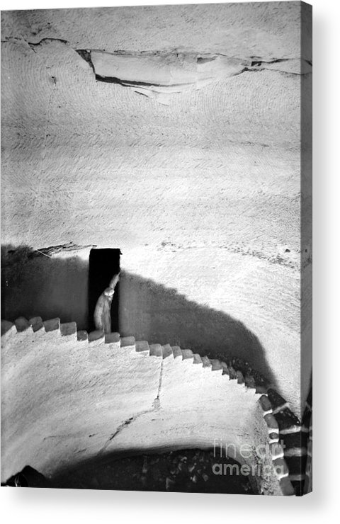 1910s Acrylic Print featuring the photograph Palestine: Cave by Granger