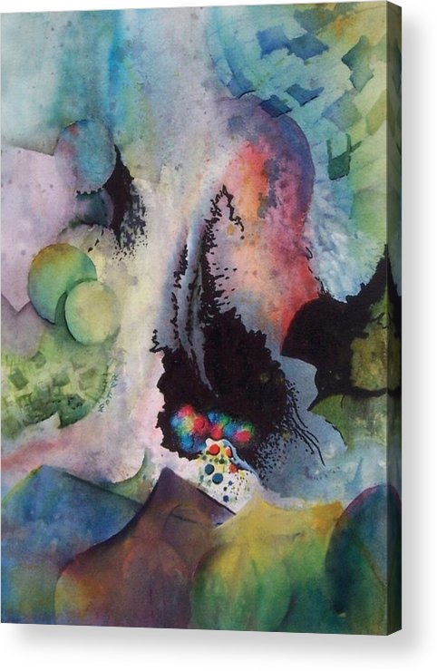 Abstract Acrylic Print featuring the painting Passage Of Time by Virginia Potter