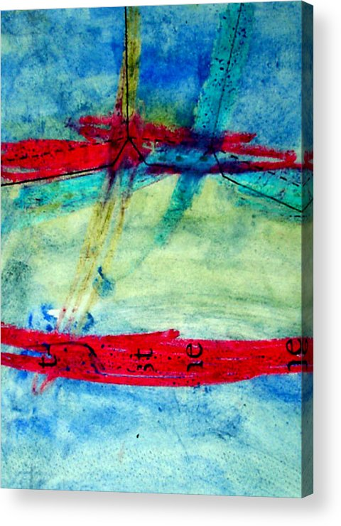 Abstract Acrylic Print featuring the mixed media Pattern by Kim Putney