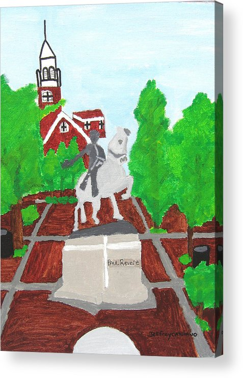 Paul Revere Acrylic Print featuring the painting Paul Revere by Jeff Caturano
