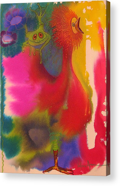 Frog Acrylic Print featuring the painting Playmates 2 by Valerie Aune
