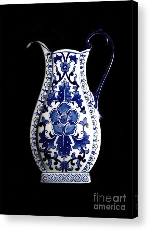 Blue And White Porcelain Acrylic Print featuring the photograph Porcelain1 by Jose Luis Reyes