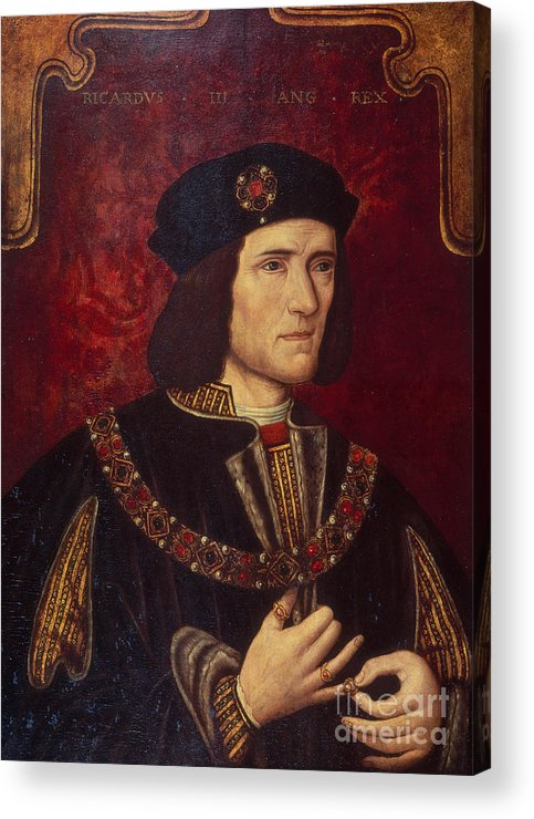 Portrait Acrylic Print featuring the painting Portrait Of King Richard IIi by English School