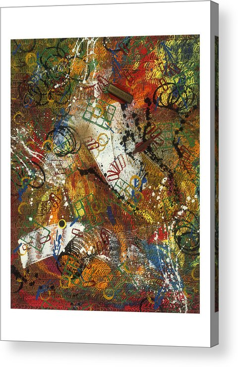 Abstract Acrylic Print featuring the painting Pour Pied Sensible by Dominique Boutaud