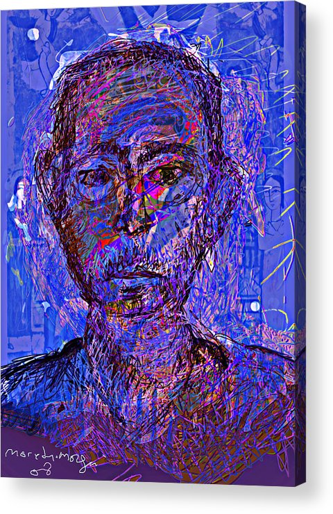 Self Portrait Acrylic Print featuring the painting Prophite by Noredin Morgan