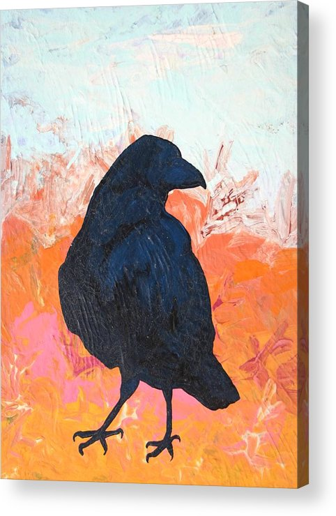 Raven Acrylic Print featuring the painting Raven IIi by Dodd Holsapple