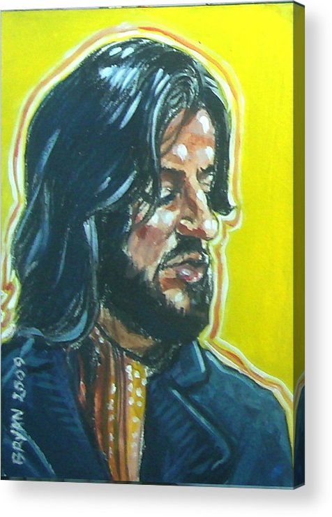 Ringo Starr Acrylic Print featuring the painting Ringo Starr by Bryan Bustard