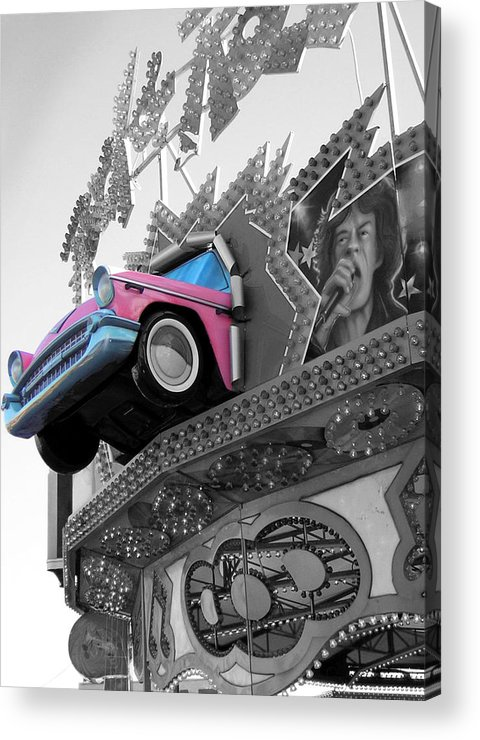 Amusement Park Acrylic Print featuring the photograph Rock N Roll by Heather Weikel
