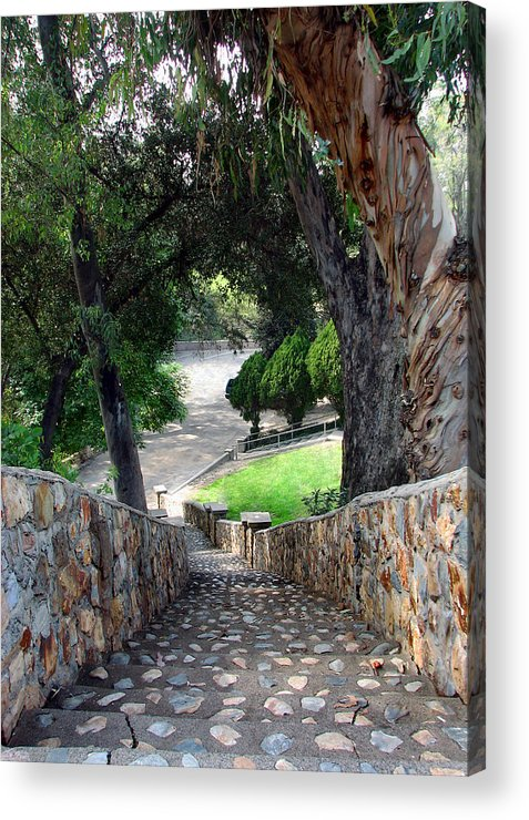 Rocks Acrylic Print featuring the photograph Rocky Stairway Ll by Joanne Coyle