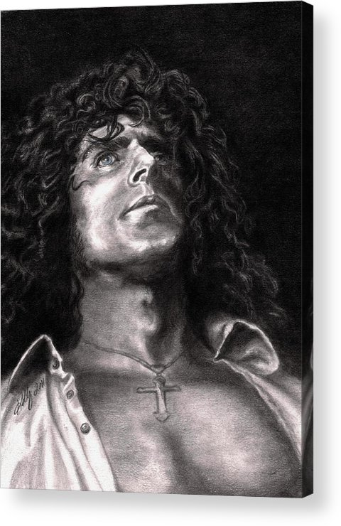 Roger Daltry Acrylic Print featuring the drawing Roger Daltry by Kathleen Kelly Thompson