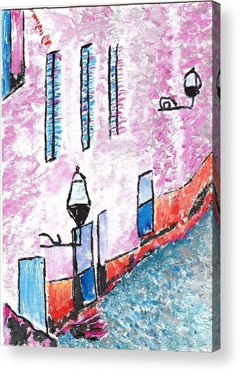 Rue Acrylic Print featuring the painting RUE by William Bowers
