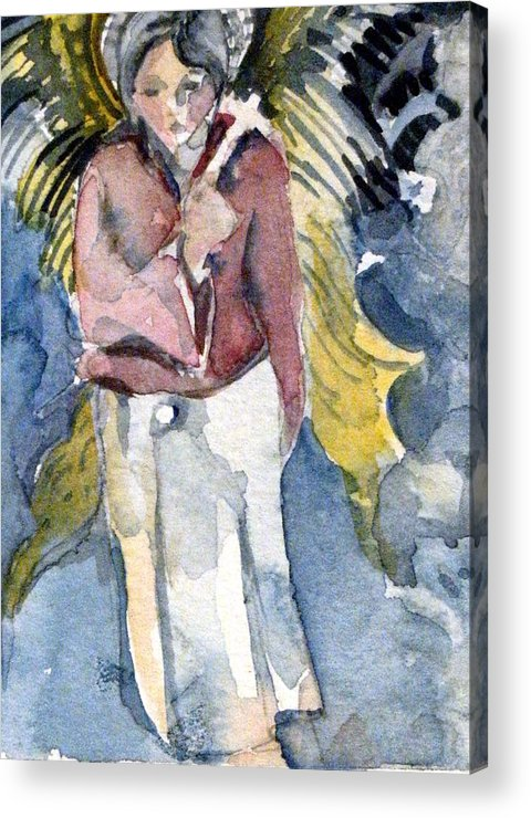 Saint Acrylic Print featuring the painting Saint Matthew by Mindy Newman