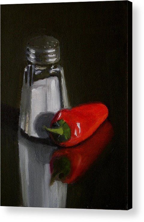 Still Life Acrylic Print featuring the painting Salt And Pepper by Becky Alden
