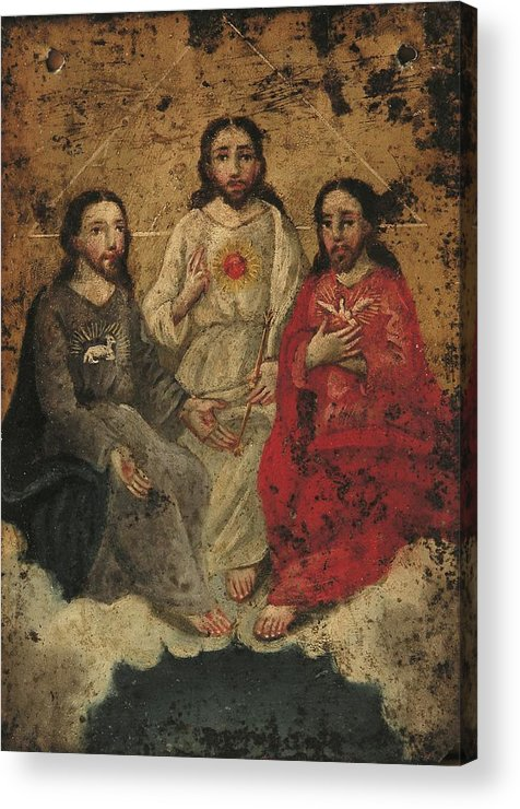 Religion Acrylic Print featuring the painting Santisima Trinidad by Unknown