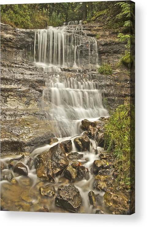 Alger Acrylic Print featuring the photograph Scenic Alger Falls by Michael Peychich