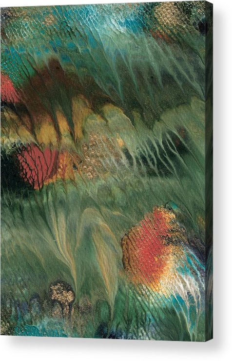 Under Water Acrylic Print featuring the painting Sea Jewels by Linda Stevenson