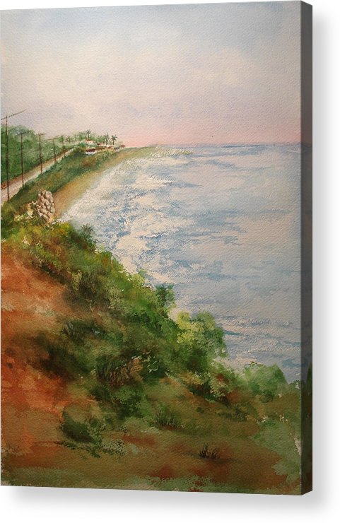Landscape Acrylic Print featuring the painting Sea Of Dreams by Debbie Lewis