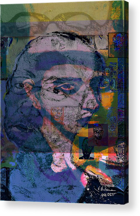 Portrait Acrylic Print featuring the painting Search by Noredin Morgan