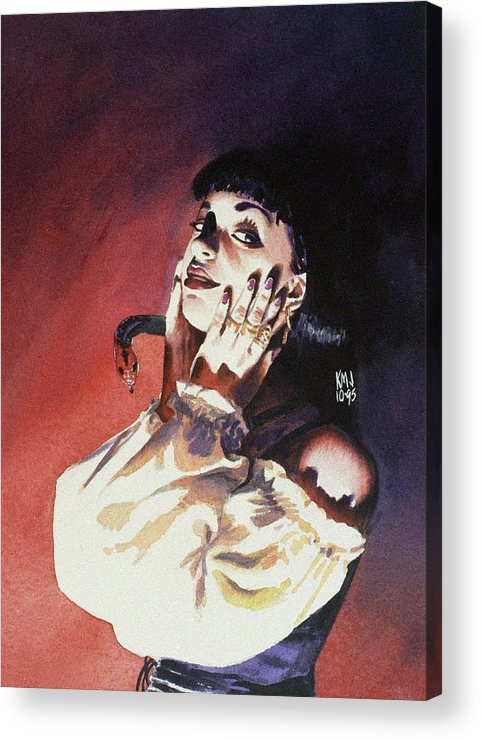 Women Acrylic Print featuring the painting Set by Ken Meyer