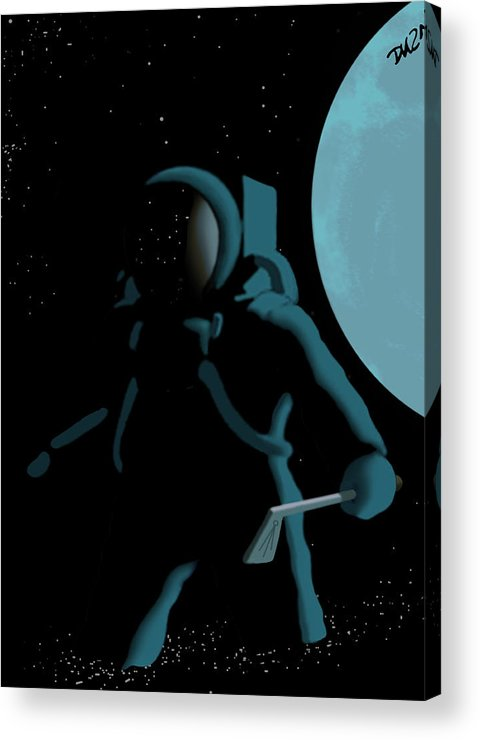 Dkzn Acrylic Print featuring the digital art Shepard In The Rough by Tom Dickson