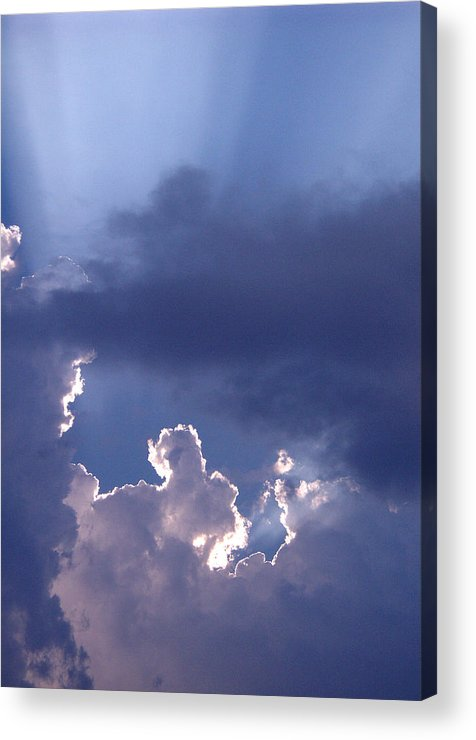 Silver Lining Acrylic Print featuring the photograph Silver Lining by Nicole I Hamilton