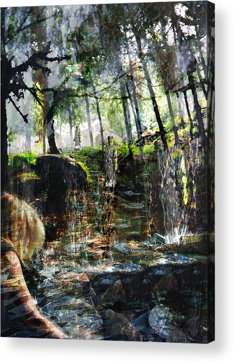 Forest Acrylic Print featuring the mixed media Somewhere In Time by Xavier Carter