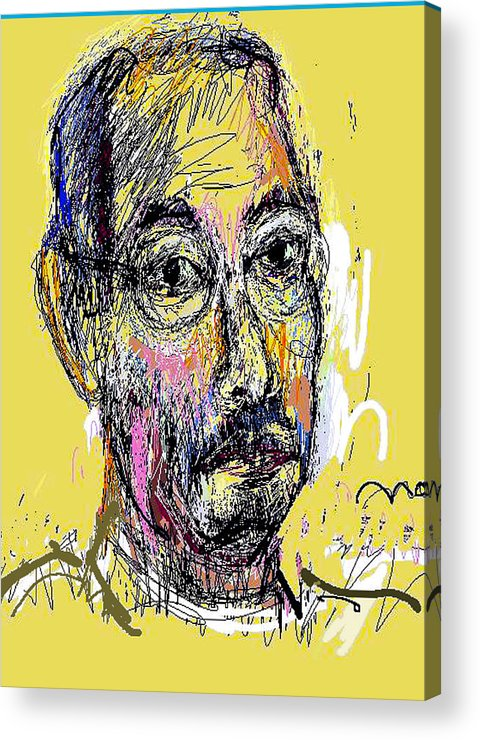 Self Portrait Acrylic Print featuring the painting Sp42308 by Noredin Morgan