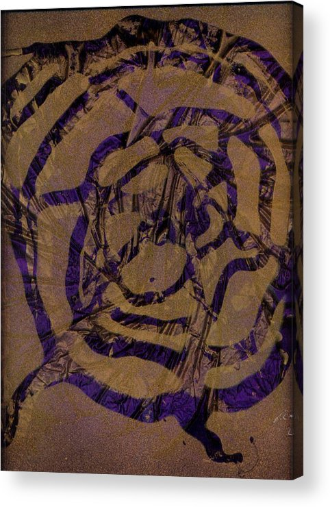 Original Acrylic Print featuring the painting Spirit Web by Rick Silas