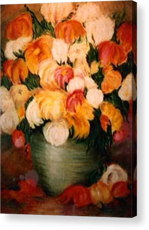Flowers Acrylic Print featuring the painting Spring Bouquet by Jordana Sands