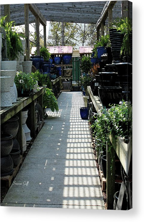 Garden Acrylic Print featuring the photograph Spring Garden Center by Suzanne Gaff