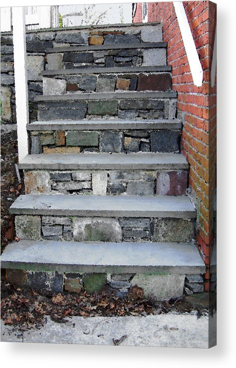 Stairs Acrylic Print featuring the photograph Stairs To The Plague House by RC DeWinter