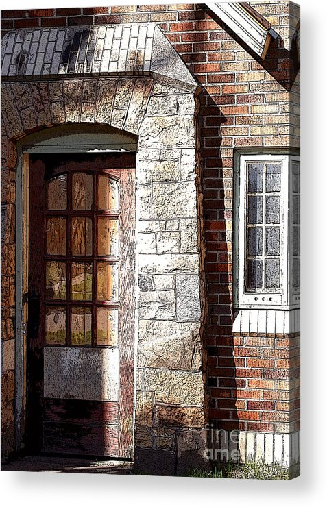 Door Acrylic Print featuring the photograph Storage Door by Steve Augustin