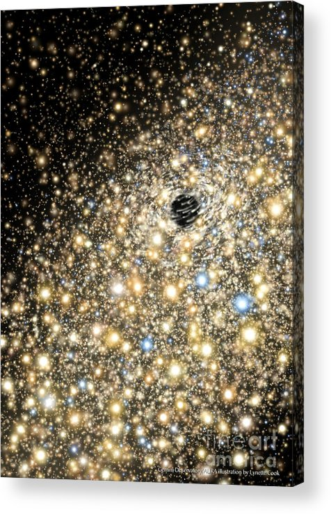 Lynette Cook Acrylic Print featuring the painting Supermassive Black Hole by Lynette Cook