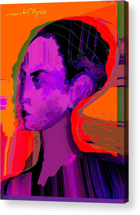 Portrait Acrylic Print featuring the painting Sweet Anticipation by Noredin Morgan