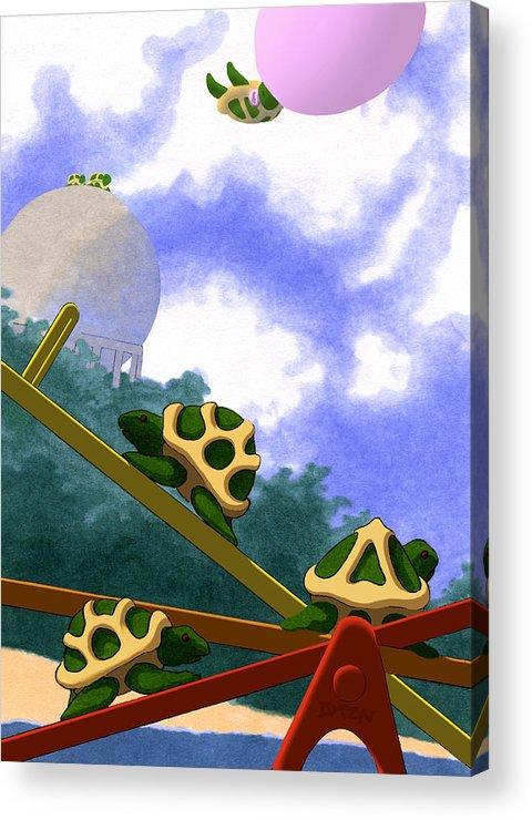 Dkzn Acrylic Print featuring the digital art Teeter by Tom Dickson