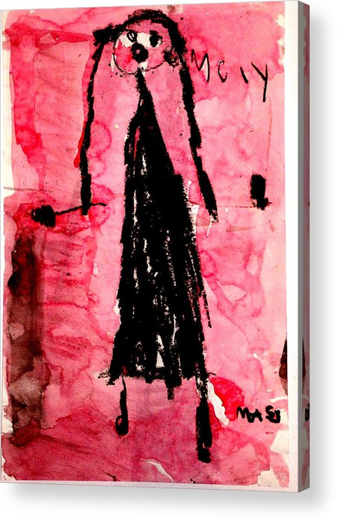 Abstract Acrylic Print featuring the mixed media The Bride by Alfred Resteghini