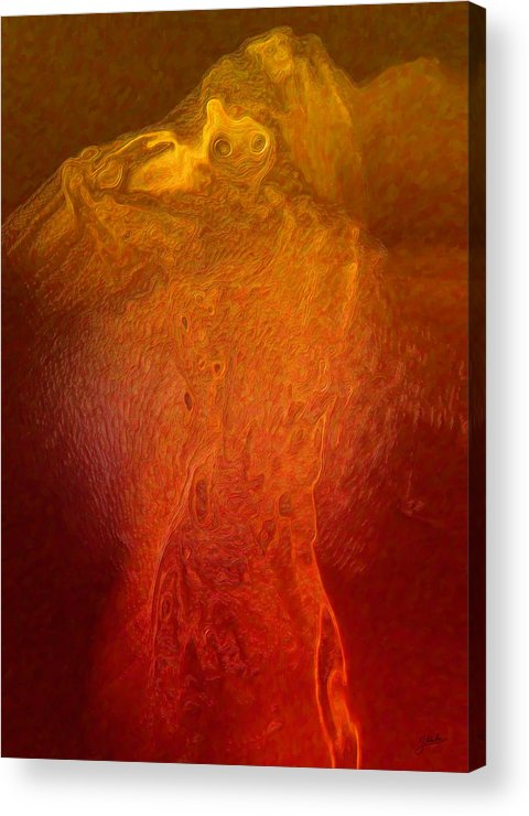 Abstract Acrylic Print featuring the digital art The Devil Beelzebub by Joaquin Abella