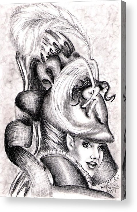 Fantasy Acrylic Print featuring the drawing The Hat by Scarlett Royal