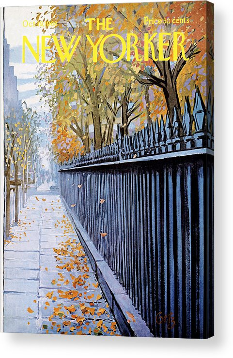 Season Acrylic Print featuring the painting Autumn In New York by Arthur Getz