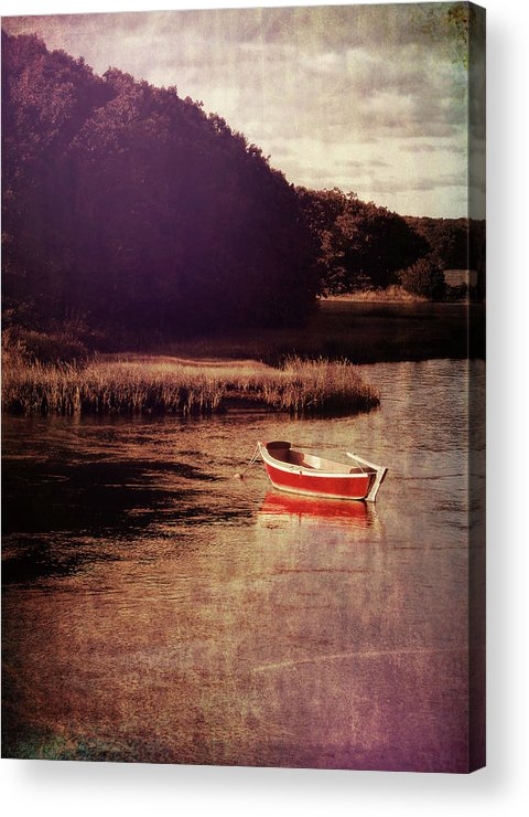 Boat Acrylic Print featuring the photograph The Red Boat by JAMART Photography