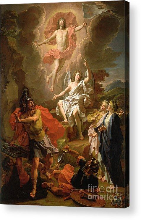 The Resurrection Of Christ Acrylic Print featuring the painting The Resurrection Of Christ by Noel Coypel