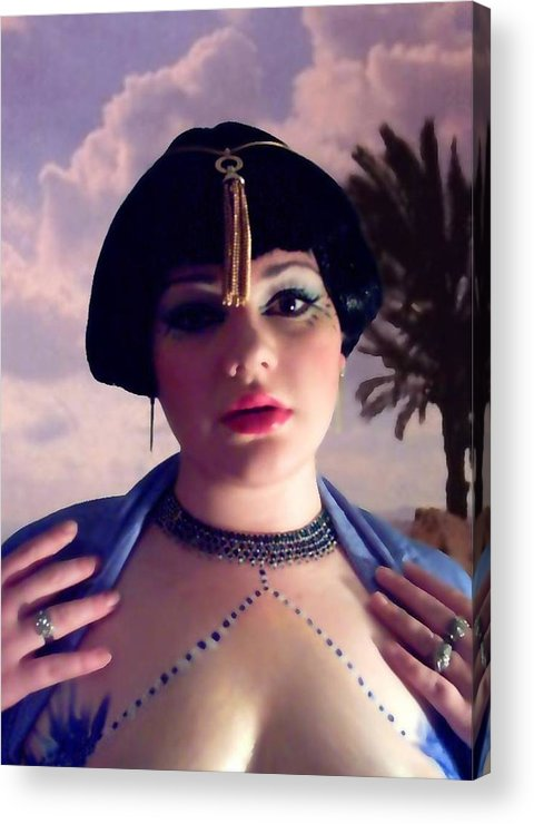 Face Acrylic Print featuring the photograph Thoughts In Egypt by Scarlett Royal