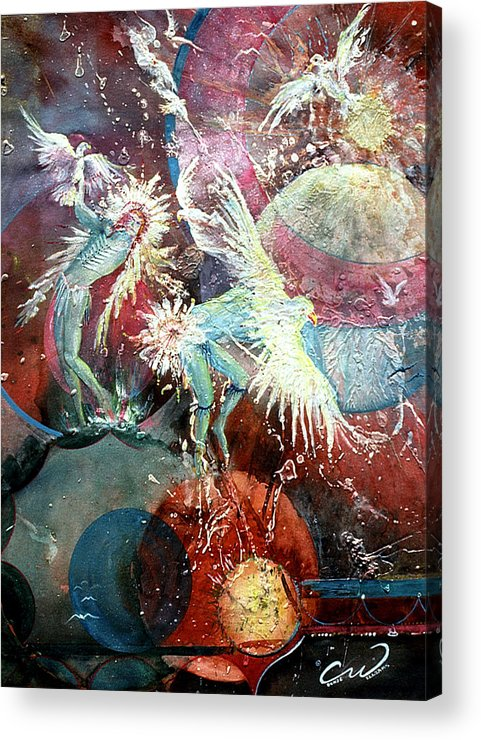 Spirits Acrylic Print featuring the painting Transcending Indian Spirits by Connie Williams