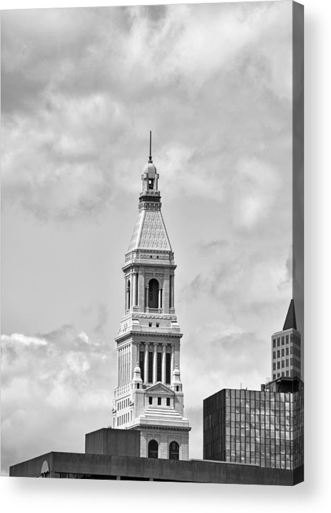 travelers Tower Acrylic Print featuring the photograph Travelers Tower - Hartford Connecticut by Brendan Reals