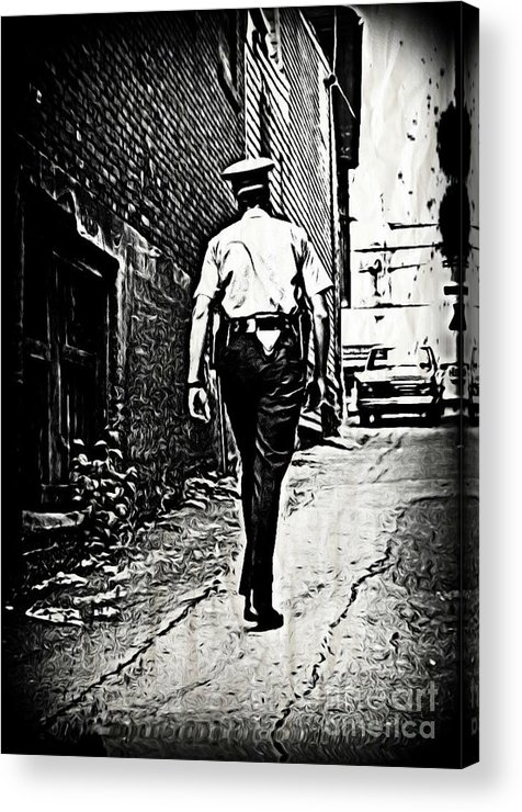 Police Cards Acrylic Print featuring the photograph True Grit by John Malone